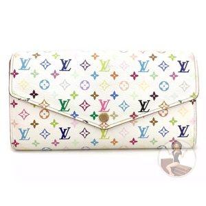 Louis Vuitton Monogram Multicolor Sarah Wallet